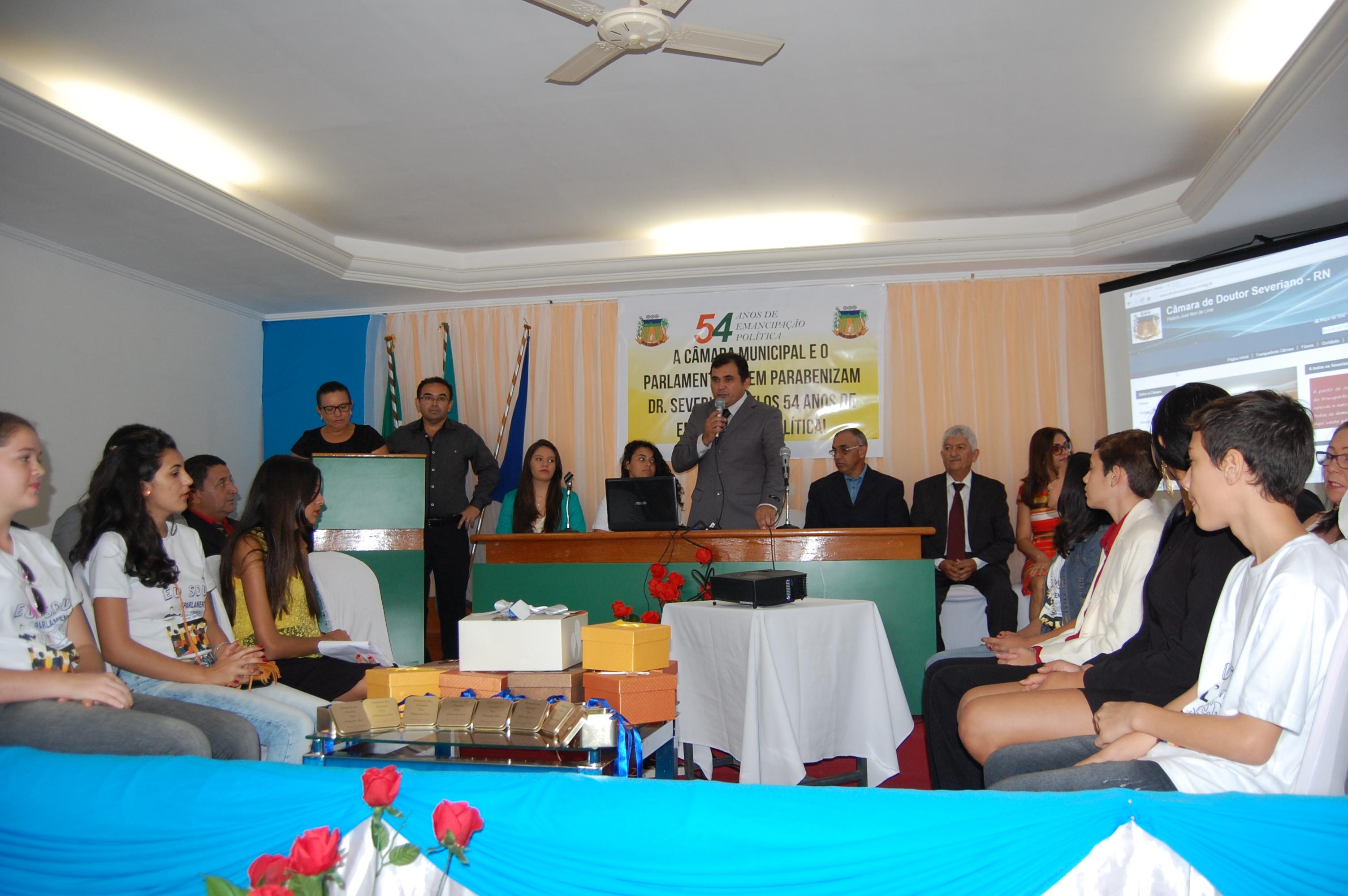 Sessão Solene: 54 anos de Emancipação Política de Doutor Severiano